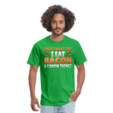 Funny I Eat Bacon And Know Things Bacon Lover Men's T-Shirt - bright green