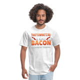 Funny I Eat Bacon And Know Things Bacon Lover Men's T-Shirt - light heather gray