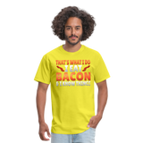 Funny I Eat Bacon And Know Things Bacon Lover Men's T-Shirt - yellow