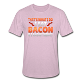 Funny I Eat Bacon And Know Things Bacon Lover Unisex Heather Prism T-Shirt - heather prism lilac