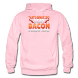 Funny I Eat Bacon And Know Things Bacon Lover Gildan Heavy Blend Adult Hoodie - light pink