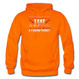Funny I Eat Bacon And Know Things Bacon Lover Gildan Heavy Blend Adult Hoodie - orange