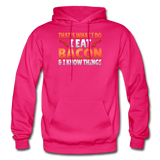Funny I Eat Bacon And Know Things Bacon Lover Gildan Heavy Blend Adult Hoodie - fuchsia