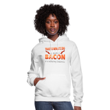 Funny I Eat Bacon And Know Things Bacon Lover Women's Hoodie - white