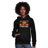 Funny I Eat Bacon And Know Things Bacon Lover Women's Hoodie - black