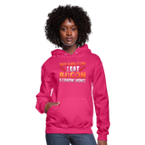 Funny I Eat Bacon And Know Things Bacon Lover Women's Hoodie - fuchsia