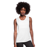 Women's Flowy Muscle Tank by Bella - white