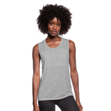 Women's Flowy Muscle Tank by Bella - heather gray