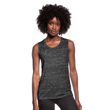 Women's Flowy Muscle Tank by Bella - black marble