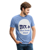 New York City Subway train funny Logo parody Unisex Tri-Blend T-Shirt - heather Blue