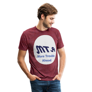 New York City Subway train funny Logo parody Unisex Tri-Blend T-Shirt - heather cranberry