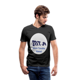 New York City Subway train funny Logo parody Men's V-Neck T-Shirt by Canvas - black
