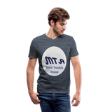 New York City Subway train funny Logo parody Men's V-Neck T-Shirt by Canvas - heather navy