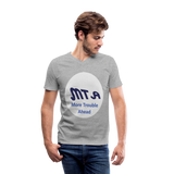New York City Subway train funny Logo parody Men's V-Neck T-Shirt by Canvas - heather gray