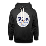 New York City Subway train funny Logo parody Unisex Shawl Collar Hoodie - black
