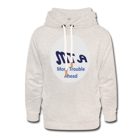 New York City Subway train funny Logo parody Unisex Shawl Collar Hoodie - heather oatmeal
