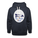 New York City Subway train funny Logo parody Unisex Shawl Collar Hoodie - navy