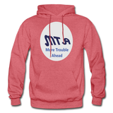 New York City Subway train funny Logo parody Gildan Heavy Blend Adult Hoodie - heather red