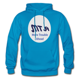 New York City Subway train funny Logo parody Gildan Heavy Blend Adult Hoodie - turquoise