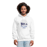 New York City Subway train funny Logo parody Men's Hoodie - white