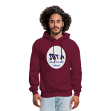 New York City Subway train funny Logo parody Men's Hoodie - burgundy
