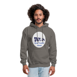 New York City Subway train funny Logo parody Men's Hoodie - asphalt gray