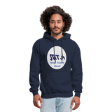 New York City Subway train funny Logo parody Men's Hoodie - navy