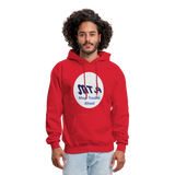 New York City Subway train funny Logo parody Men's Hoodie - red