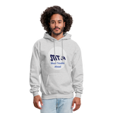 New York City Subway train funny Logo parody Men's Hoodie - ash