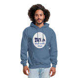 New York City Subway train funny Logo parody Men's Hoodie - denim blue