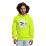 New York City Subway train funny Logo parody Men's Hoodie - safety green