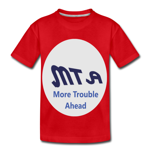 New York City Subway train funny Logo parody Kids' Premium T-Shirt - red