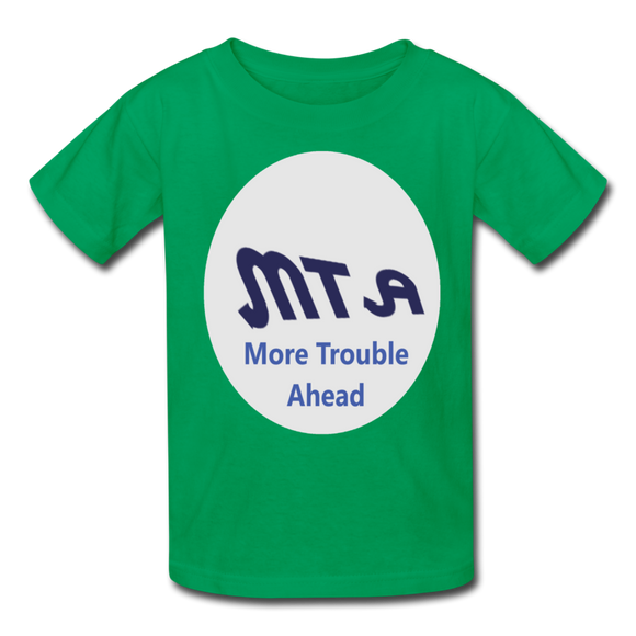 New York City Subway train funny Logo parody Kids' T-Shirt - kelly green