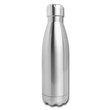 Insulated Stainless Steel Water Bottle - silver