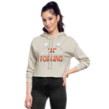 I'd Rather Be Forging Blacksmith Forge Hammer Women's Cropped Hoodie - dust