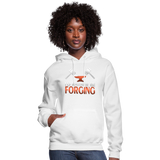 I'd Rather Be Forging Blacksmith Forge Hammer Women's Hoodie - white