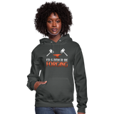 I'd Rather Be Forging Blacksmith Forge Hammer Women's Hoodie - asphalt
