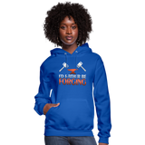 I'd Rather Be Forging Blacksmith Forge Hammer Women's Hoodie - royal blue