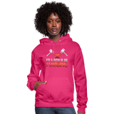 I'd Rather Be Forging Blacksmith Forge Hammer Women's Hoodie - fuchsia