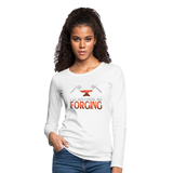 I'd Rather Be Forging Blacksmith Forge Hammer Women's Premium Long Sleeve T-Shirt - white