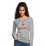 I'd Rather Be Forging Blacksmith Forge Hammer Women's Premium Long Sleeve T-Shirt - heather gray