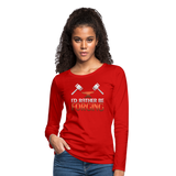 I'd Rather Be Forging Blacksmith Forge Hammer Women's Premium Long Sleeve T-Shirt - red