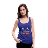 I'd Rather Be Forging Blacksmith Forge Hammer Women's Premium Tank Top - royal blue