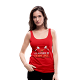 I'd Rather Be Forging Blacksmith Forge Hammer Women's Premium Tank Top - red