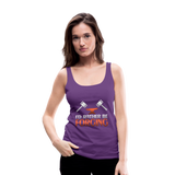 I'd Rather Be Forging Blacksmith Forge Hammer Women's Premium Tank Top - purple
