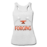 I'd Rather Be Forging Blacksmith Forge Hammer Women's Tri-Blend Racerback Tank - heather white
