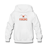 I'd Rather Be Forging Blacksmith Forge Hammer Kids' Hoodie - white