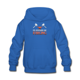 I'd Rather Be Forging Blacksmith Forge Hammer Kids' Hoodie - royal blue