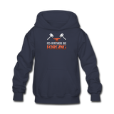 I'd Rather Be Forging Blacksmith Forge Hammer Kids' Hoodie - navy