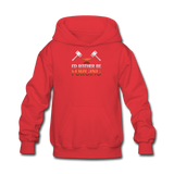 I'd Rather Be Forging Blacksmith Forge Hammer Kids' Hoodie - red